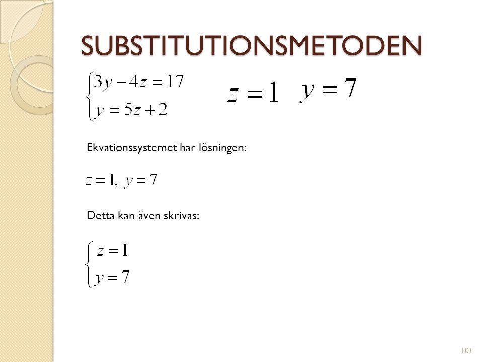 SUBSTITUTIONSMETODEN 102