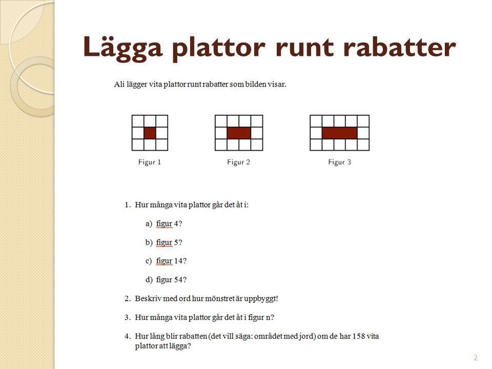 Lägga plattor runt rabatter 2