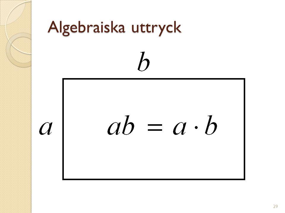 Algebraiska uttryck 30 15