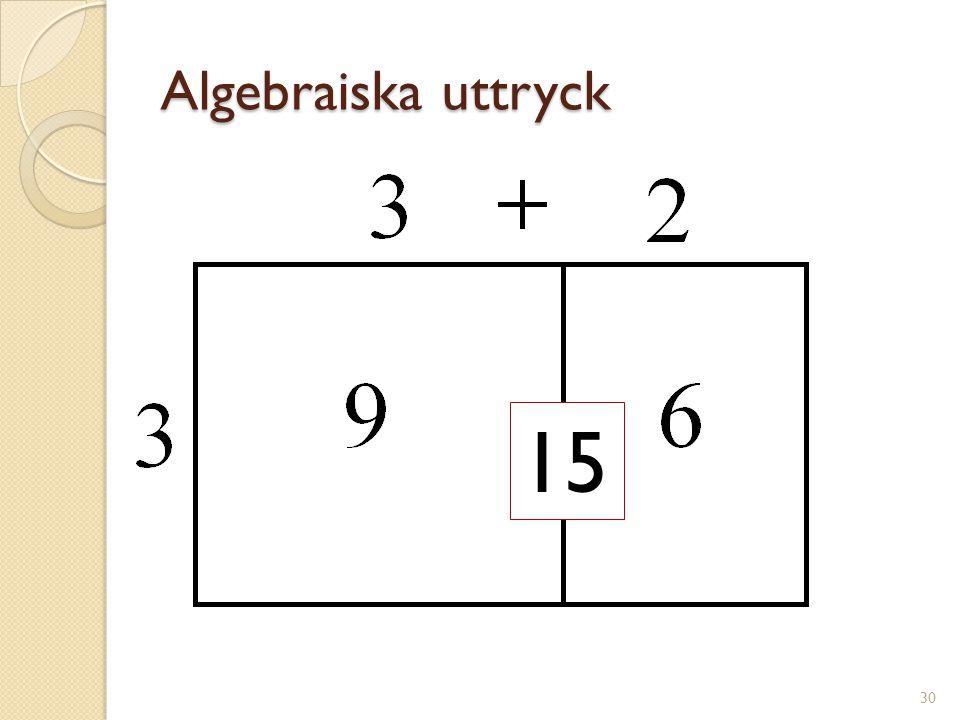 Algebraiska uttryck 31 a²+ab