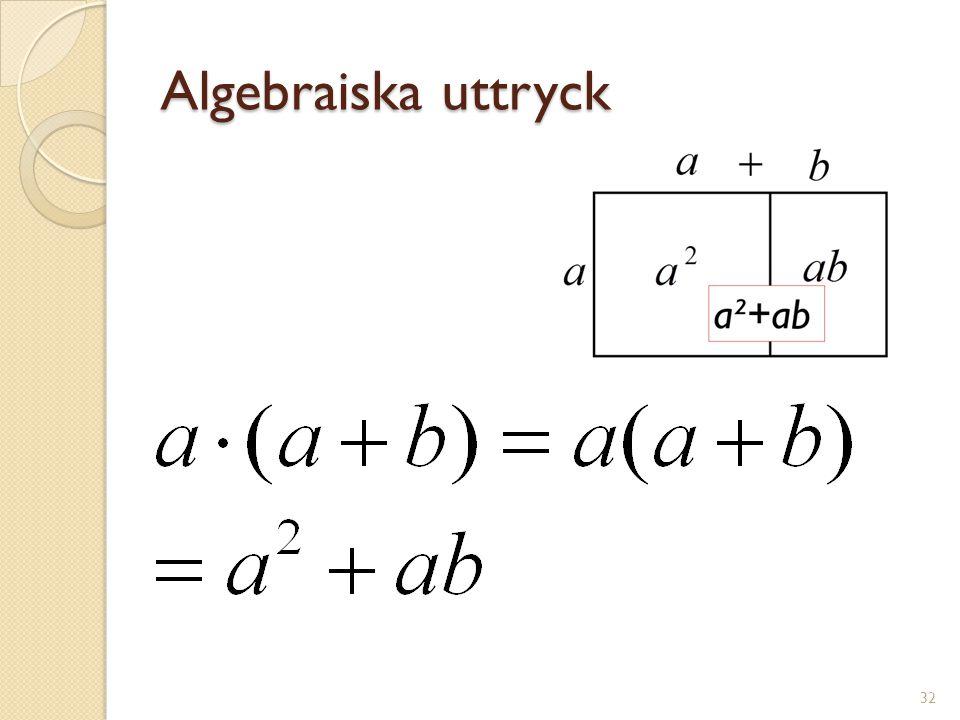 Ekvationer 33