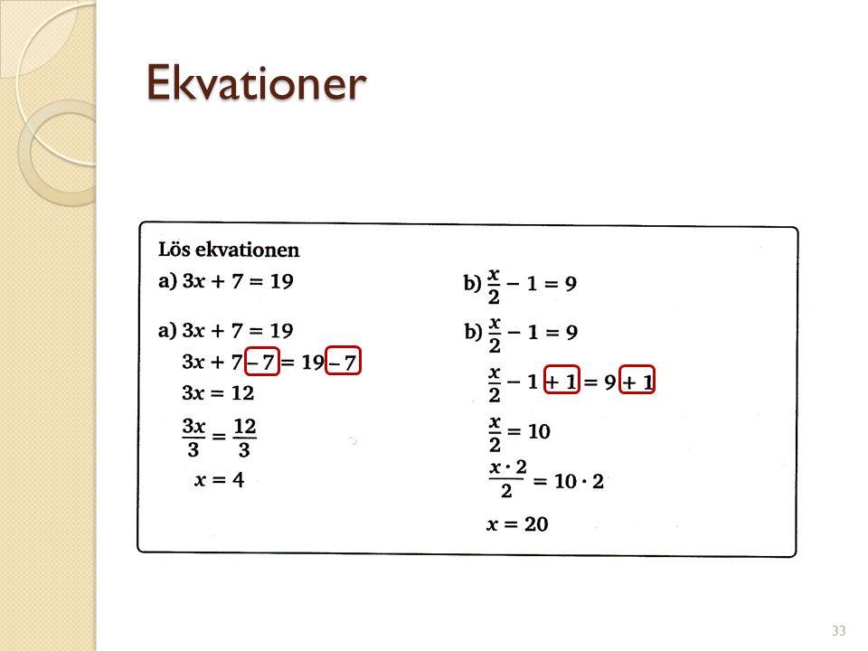 Ekvationer 34
