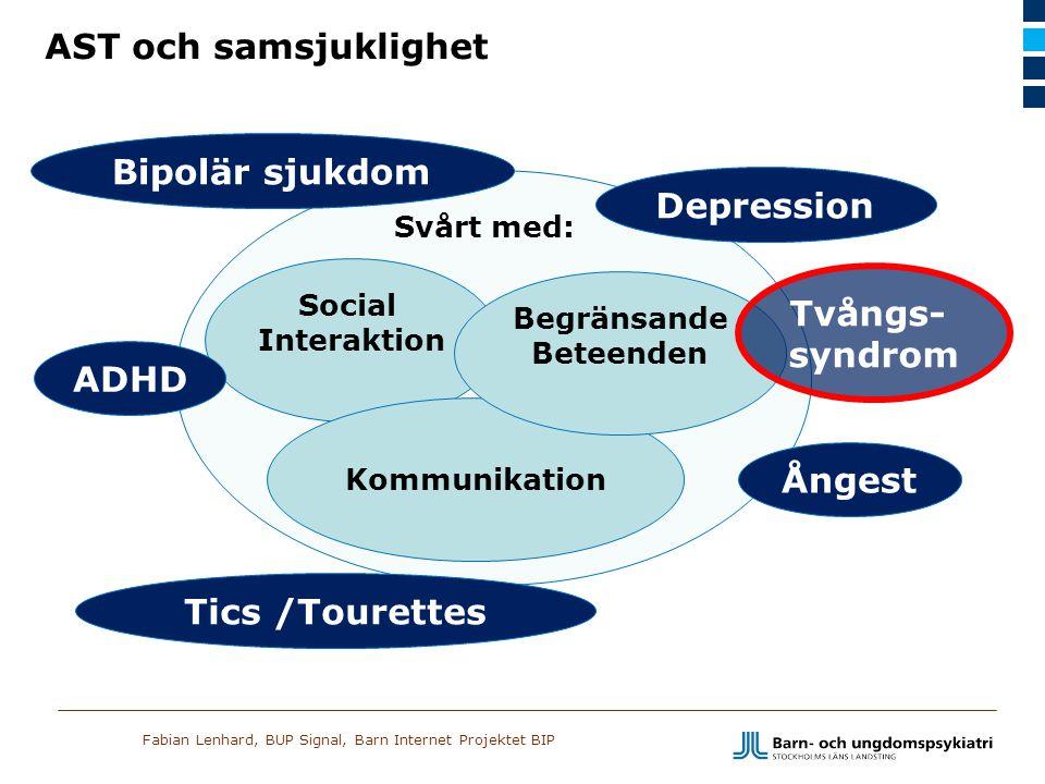 Fabian Lenhard, BUP Signal, Barn Internet Projektet BIP Social Interaktion Kommunikation Depression Tics /Tourettes Ångest ADHD Bipolär sjukdom Begrän