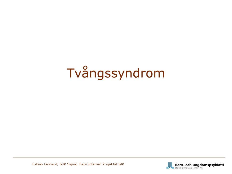 Fabian Lenhard, BUP Signal, Barn Internet Projektet BIP Tvångssyndrom