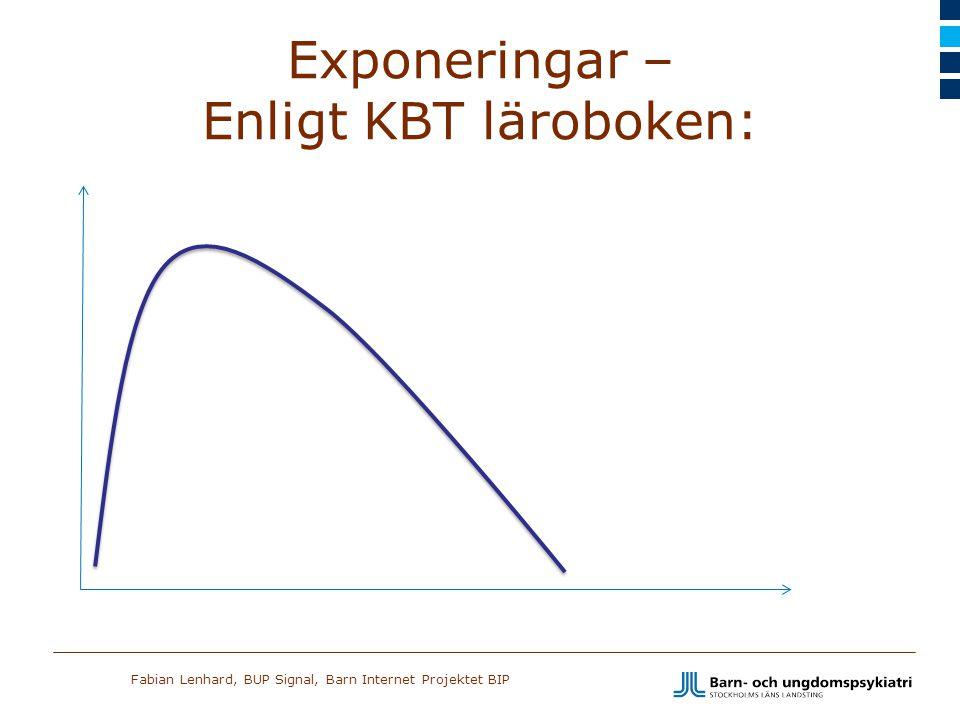 Fabian Lenhard, BUP Signal, Barn Internet Projektet BIP Exponeringar – Enligt KBT läroboken: