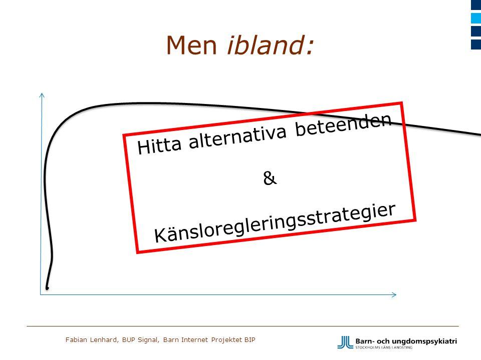 Fabian Lenhard, BUP Signal, Barn Internet Projektet BIP Men ibland: Hitta alternativa beteenden & Känsloregleringsstrategier