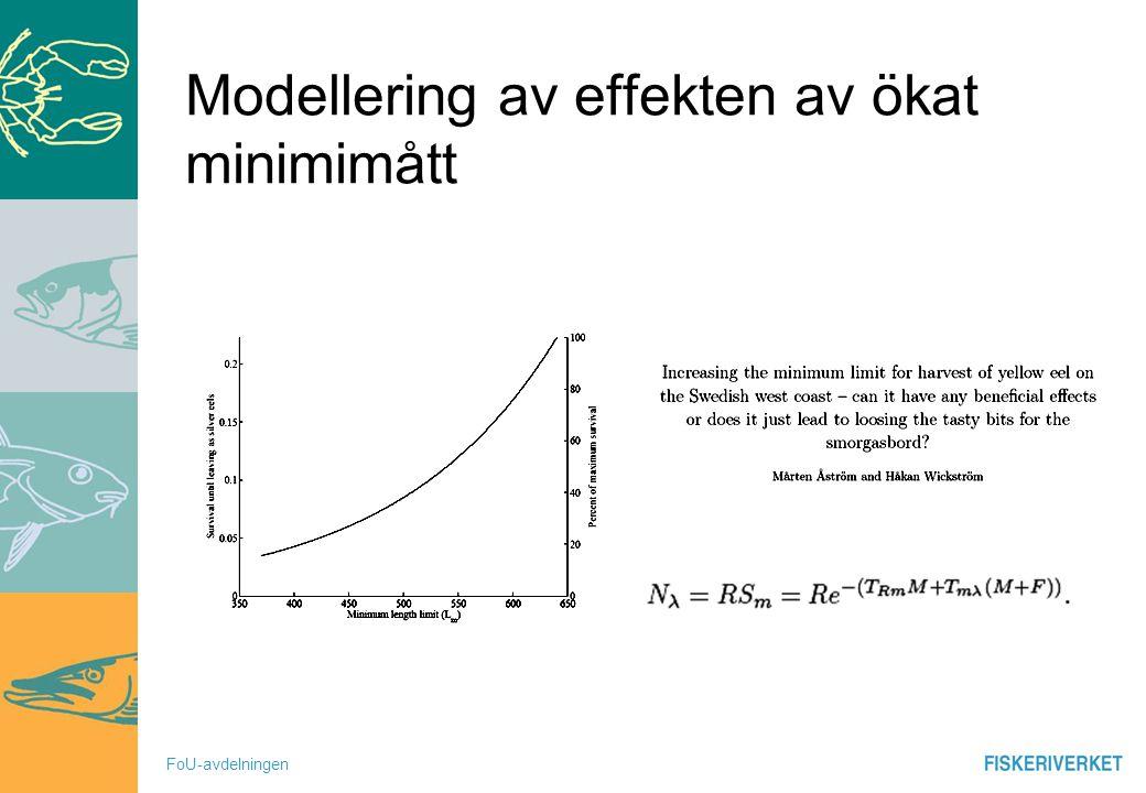 FoU-avdelningen Modellering av effekten av ökat minimimått