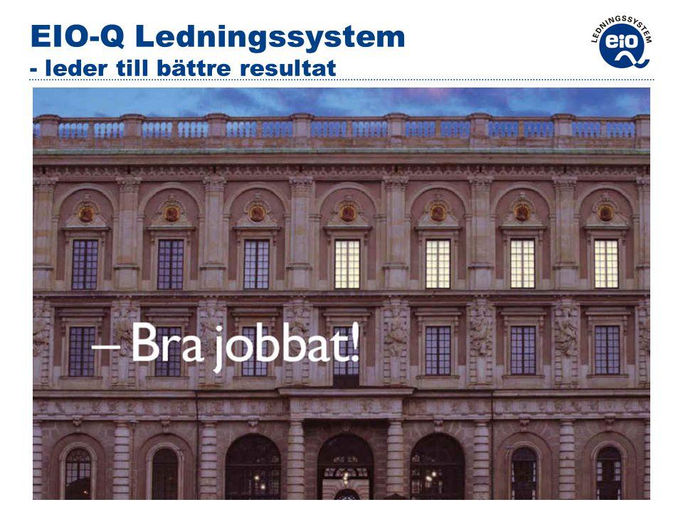 www.eio.se 2007-03-01OH EIO-Q utg 4 EIO-Q Ledningssystem - leder till bättre resultat