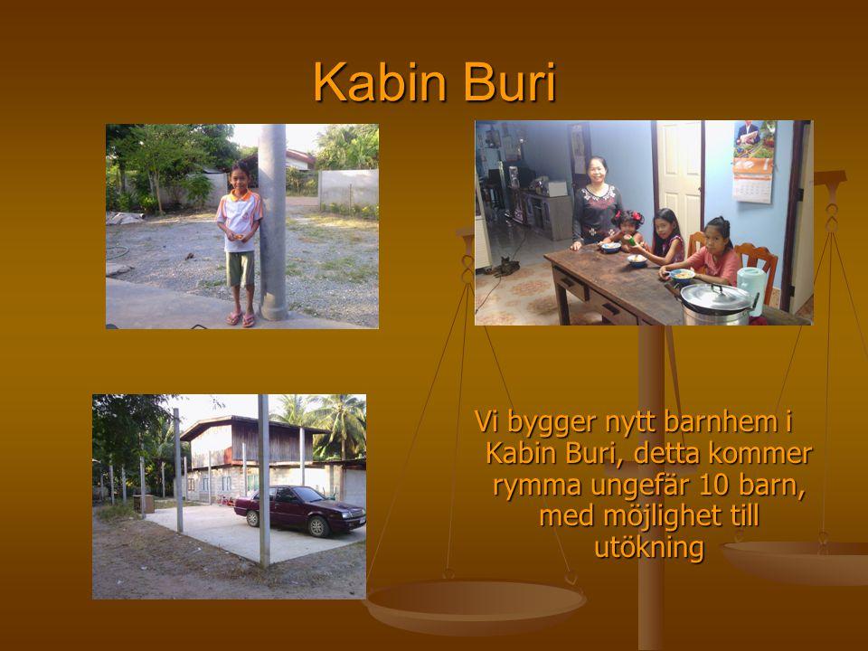 Kabin Buri Vi bygger nytt barnhem i Kabin Buri, detta kommer rymma ungefär 10 barn, med möjlighet till utökning