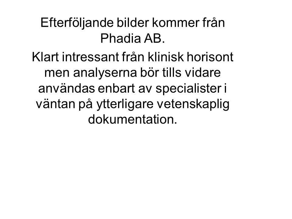 Efterföljande bilder kommer från Phadia AB.
