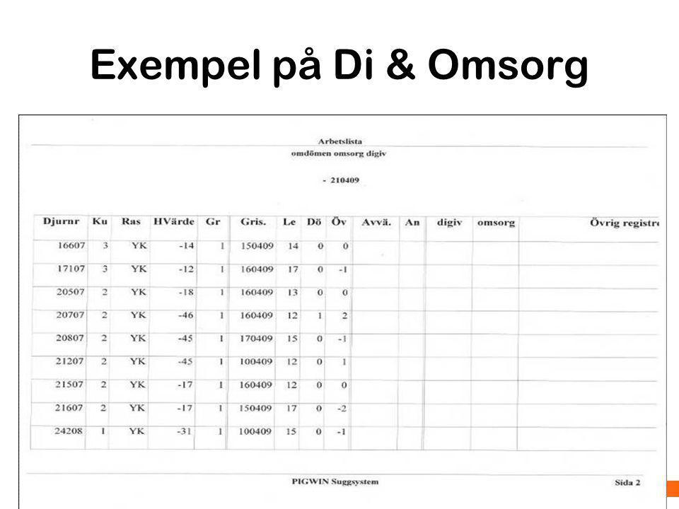 Föreläsningsrubrik / tema Hälsokontroll vid insättning Klövar Exempel på verkningsutrymme i drivgången Foto: K.