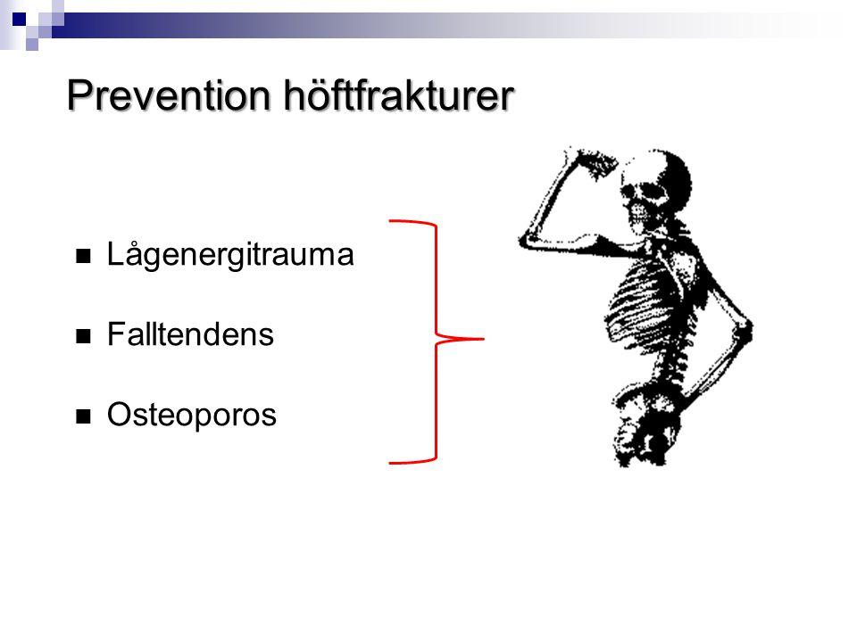 Prevention höftfrakturer  Lågenergitrauma  Falltendens  Osteoporos