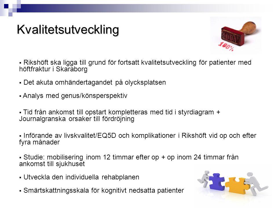  Rikshöft ska ligga till grund för fortsatt kvalitetsutveckling för patienter med höftfraktur i Skaraborg  Det akuta omhändertagandet på olycksplats