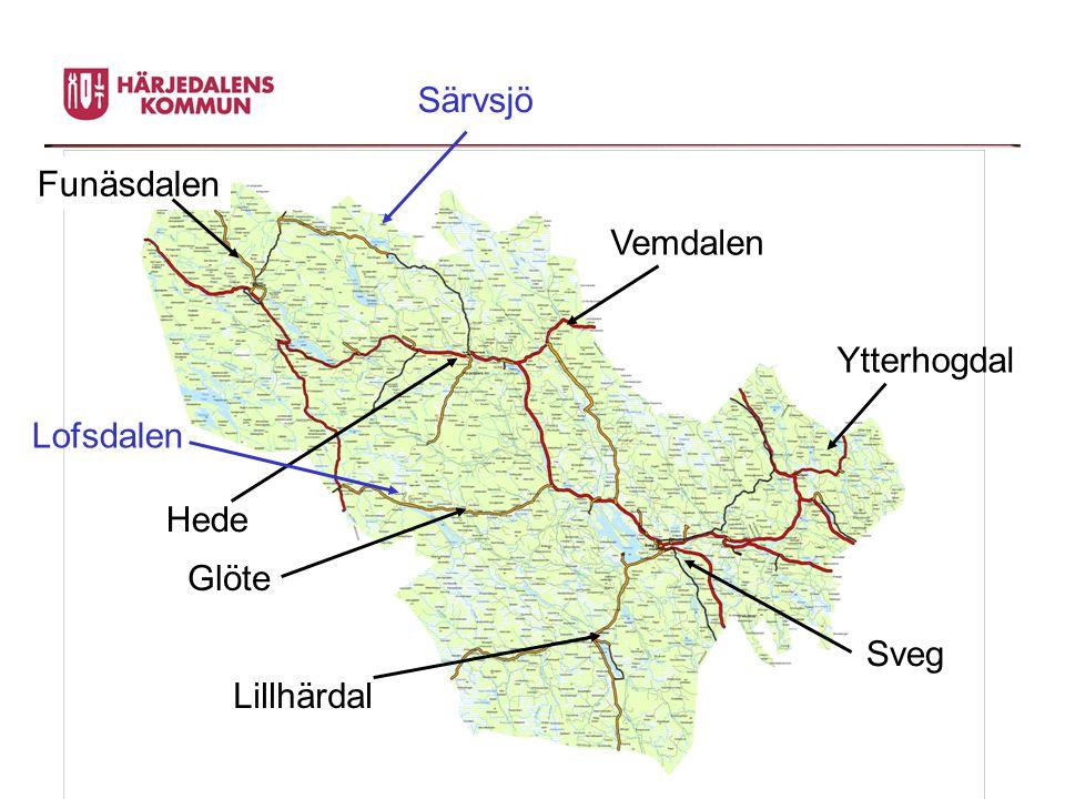 Ytterhogdal Hede Vemdalen Glöte Lillhärdal Sveg Funäsdalen Särvsjö Lofsdalen
