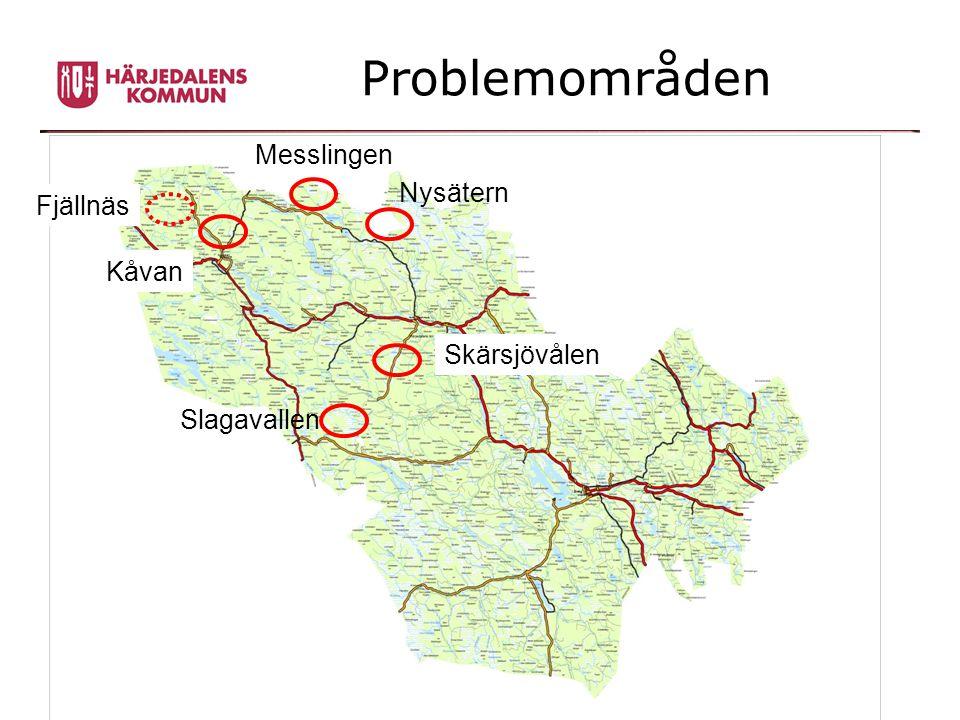 Problemområden Messlingen Nysätern Skärsjövålen Kåvan Slagavallen Fjällnäs