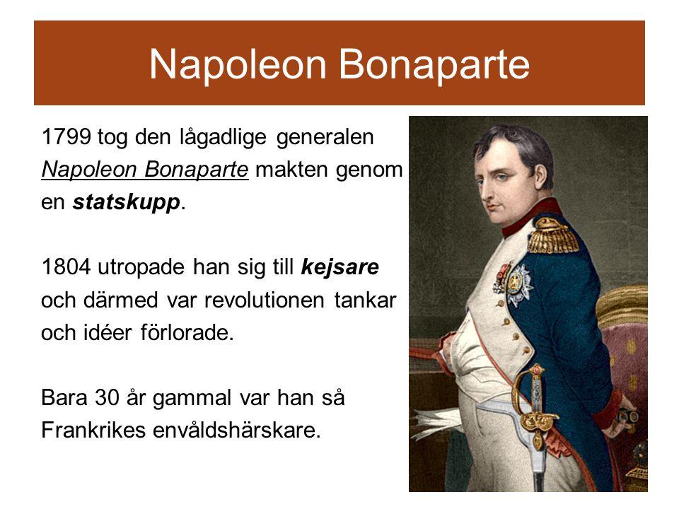 Napoleon Bonaparte 1799 tog den lågadlige generalen Napoleon Bonaparte makten genom en statskupp.