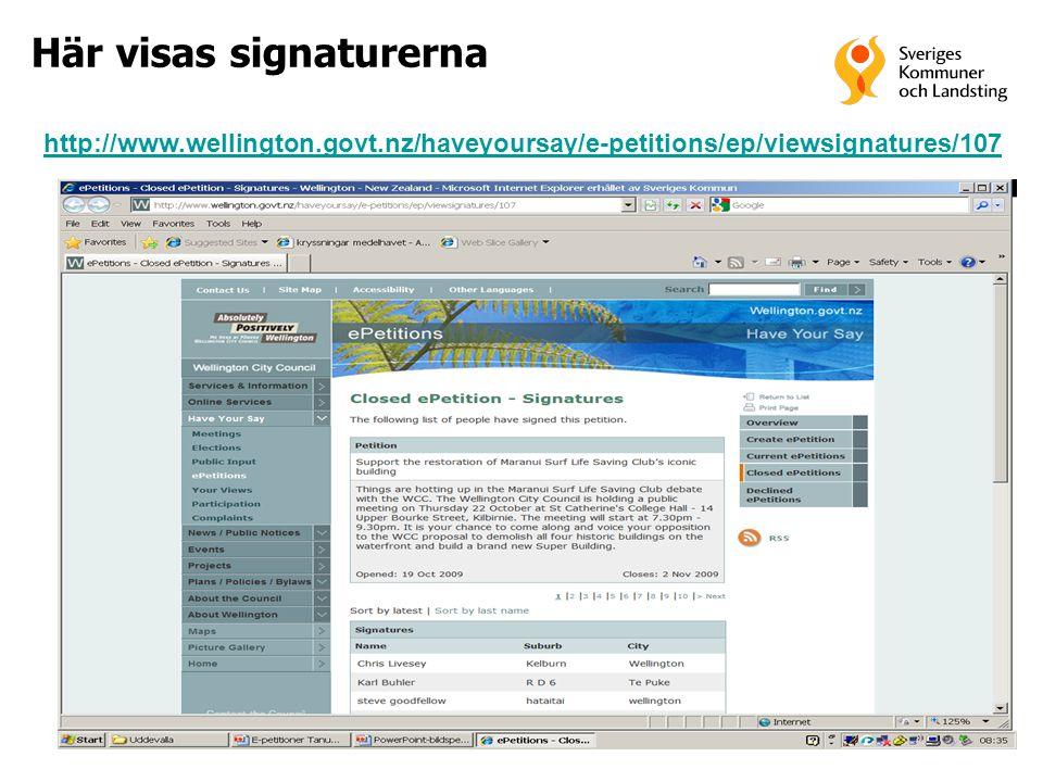 27 Här visas signaturerna http://www.wellington.govt.nz/haveyoursay/e-petitions/ep/viewsignatures/107