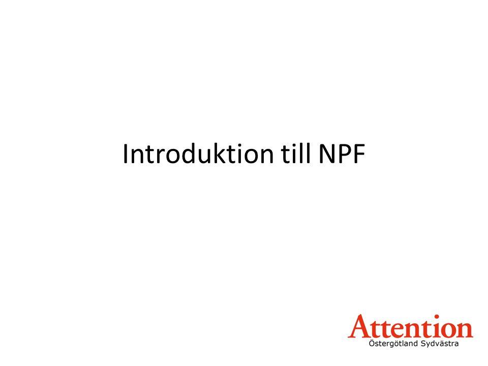 Introduktion till NPF