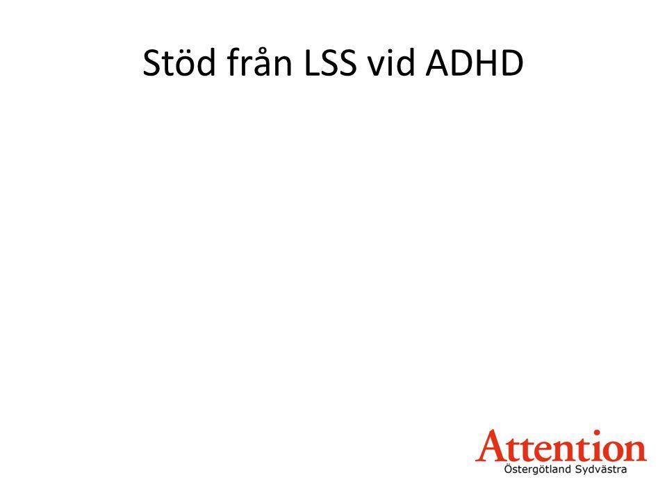 Stöd från LSS vid ADHD