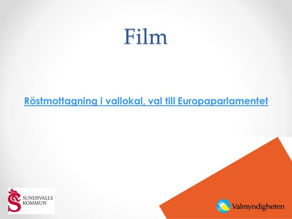 Film Röstmottagning i vallokal, val till Europaparlamentet