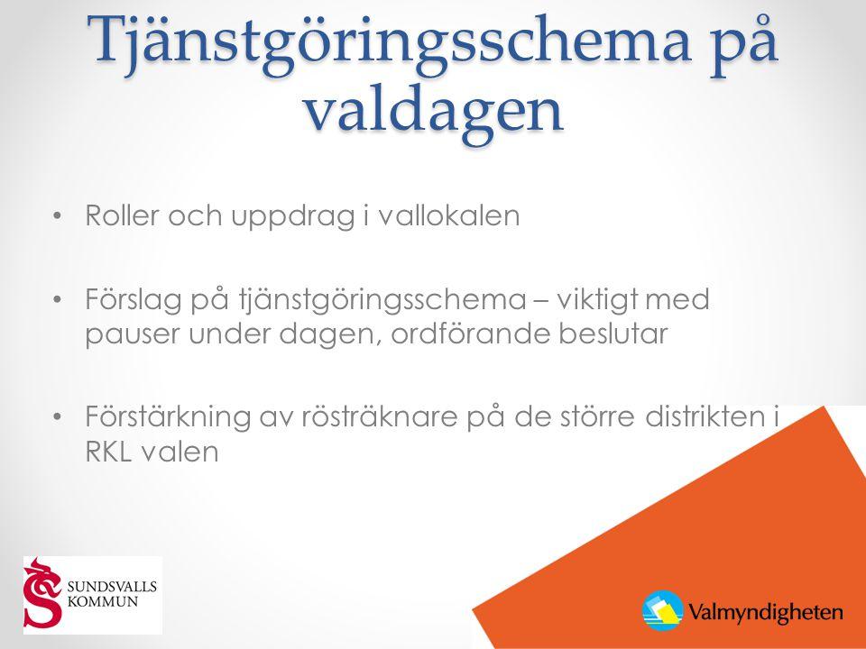 Tjänstgöringsschema i EP valen