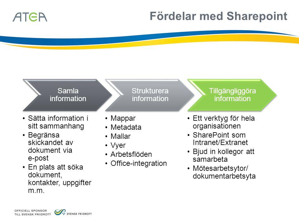 Samarbete Portal Sök Innehålls- hantering Formulär Beslutsstöd Funktioner Platform Services
