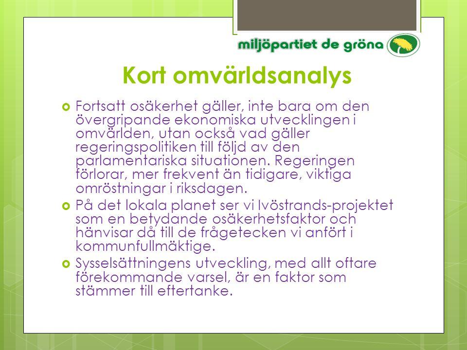 Tillägg till Budget 2013  utnyttjandegraden (verksamheternas kostnad/skatter+ bidrag)= 99 %  anslag till Kommunstyrelsen för oförutsedda behov 1.0 mkr  anslag till Kommunfullmäktige för oförutsedda behov 5.0 mkr  åtgärdsprogram för att motverka ungdomsarbetslösheten, se MP:s B 2013 verbal version  medel för beredningarna måste avsättas för att få dem i avsedd funktion  enskild väghållning i tätorterna ersätts med kommunal skötsel, statsbidrag delfinansierar  ekonomisystemets installation och implementering, ramen ökas till 4,0 mkr  upphandlingsfunktionen flyttas till SBKF alt.