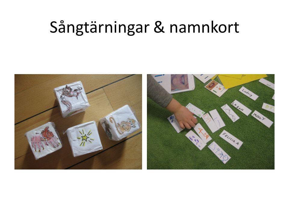 Sångtärningar & namnkort