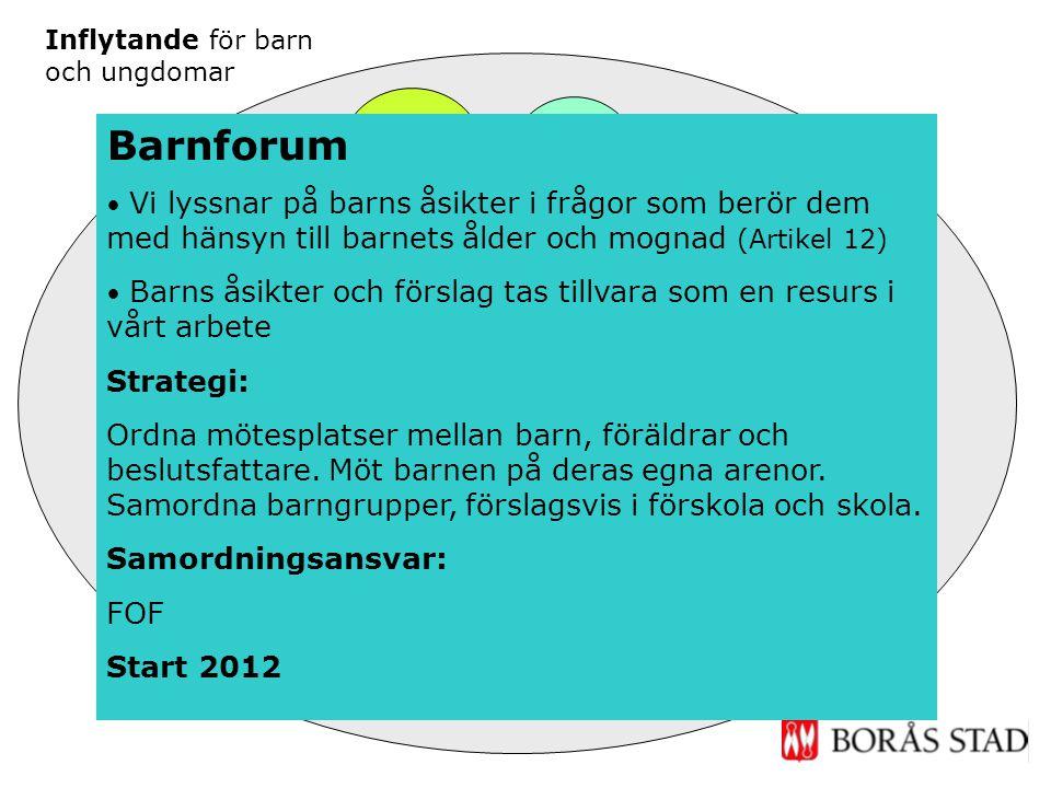 Inflytande Fritid Forum på nätet Inflytande skola & förskola Ungdoms- råd Barn- Forum Inflytande för barn och ungdomar Möten på ungas villkor Barnforu