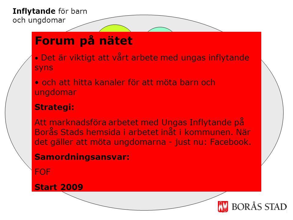Inflytande Fritid Forum på nätet Inflytande skola & förskola Ungdoms- råd Barn- Forum Inflytande för barn och ungdomar Möten på ungas villkor Forum på