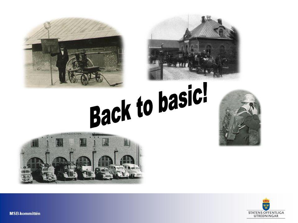 MSB-kommittén Organisation •Idag bedriver de tre myndigheterna verksamhet på nio olika orter.