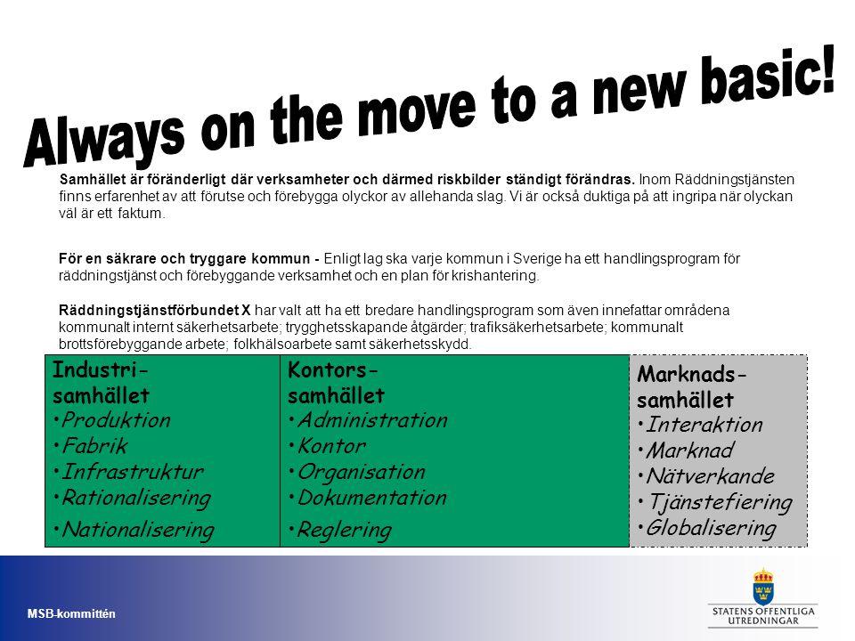 MSB-kommittén Arbetet – förbereda och genomföra bildandet av MSB.