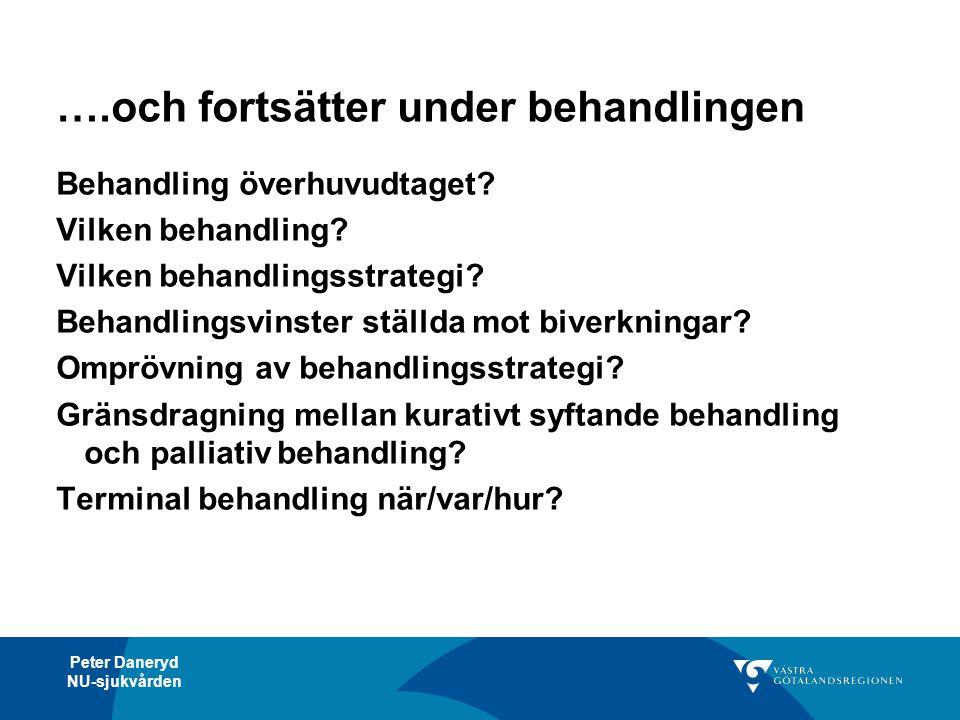 Peter Daneryd NU-sjukvården NU-sjukvårdens vårdprocesser Utreda Huvuddiagnoser (alt.