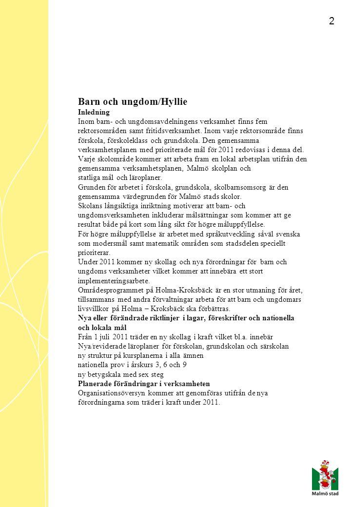 3 KUNSKAPER Mål/Hyllie Arbetet i förskolan skall kvalitetssäkras genom att: i vardagen stimulera och utmana barnens språkliga förmåga och matematiska tänkande.