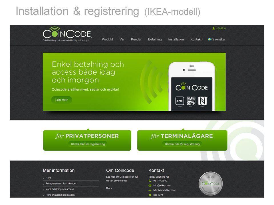 Installation & registrering (IKEA-modell)