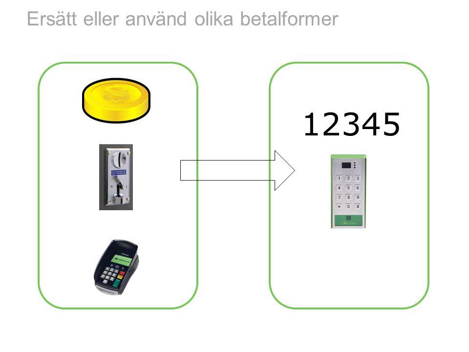 Ersätt eller använd olika betalformer 12345