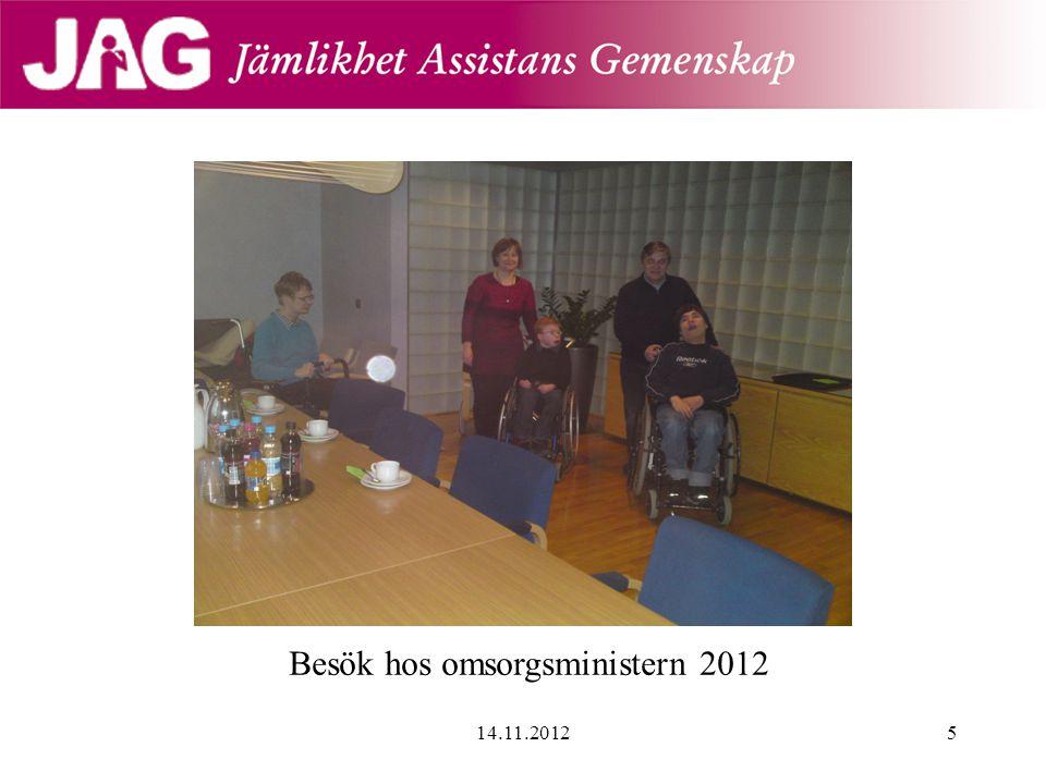 Besök hos omsorgsministern 2012 14.11.20125
