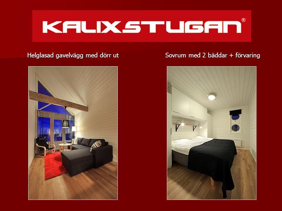 Sovrum med 2 bäddar + förvaring Sovrum med 2 bäddar + förvaring Helglasad gavelvägg med dörr ut
