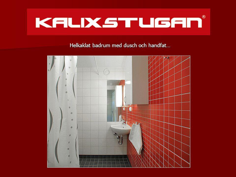 Helkaklat badrum med dusch och handfat… Helkaklat badrum med dusch och handfat…