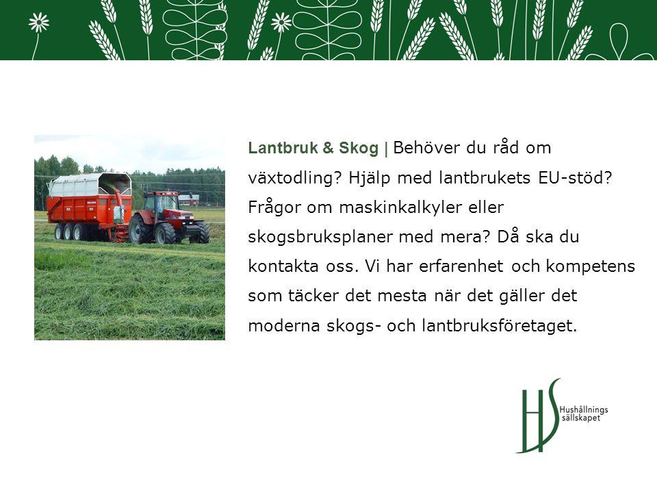 Lantbruk & Skog | Behöver du råd om växtodling.Hjälp med lantbrukets EU-stöd.