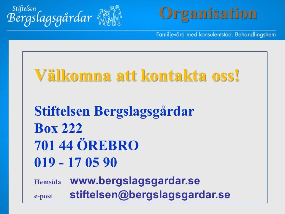Välkomna att kontakta oss! Stiftelsen Bergslagsgårdar Box 222 701 44 ÖREBRO 019 - 17 05 90 Hemsida www.bergslagsgardar.se e-post stiftelsen@bergslagsg