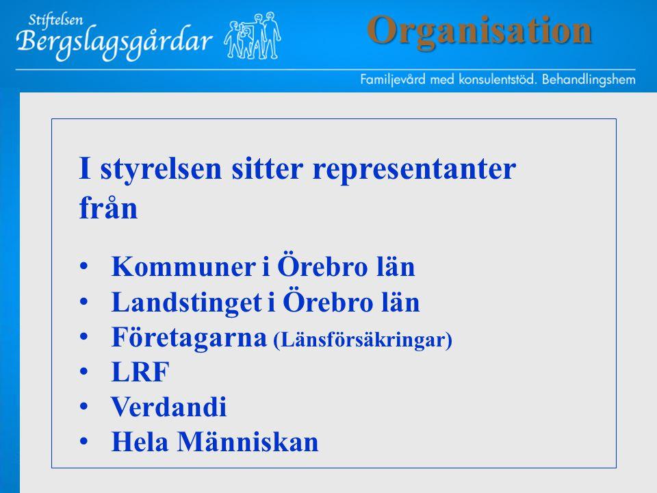 I styrelsen sitter representanter från • Kommuner i Örebro län • Landstinget i Örebro län • Företagarna (Länsförsäkringar) • LRF • Verdandi • Hela Män