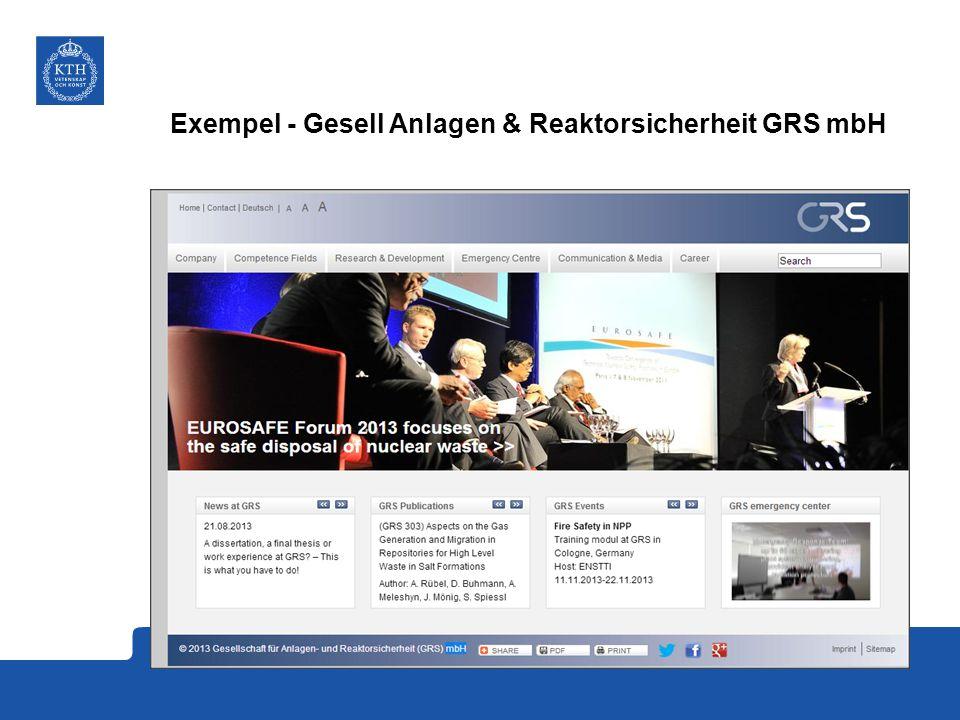 Exempel - Gesell Anlagen & Reaktorsicherheit GRS mbH
