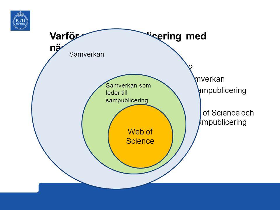 Varför mäta sampublicering med näringsliv. •Hur samverkar KTH med näringslivet.