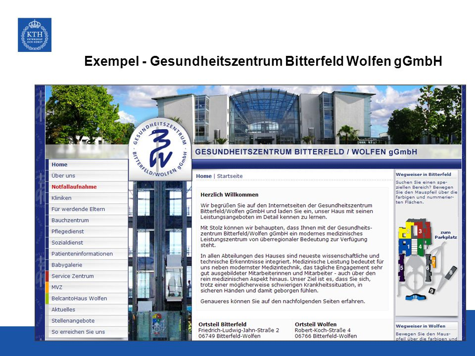 Gesundheitszentrum Bitterfeld Wolfen gGmbH gGmbh - Die gemeinnützige GmbH (gGmbH) ist eine Gesellschaft mit beschränkter Haftung Die Gesundheitszentrum Bitterfeld/Wolfen gGmbH ist ein modernes medizinisches Leistungszentrum mit überregionaler Bedeutung und Akademisches Lehrkrankenhaus der Martin- Luther-Universität Halle-Wittenberg.