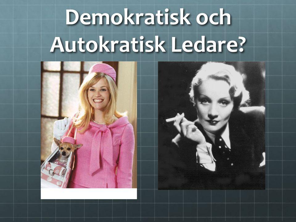 Demokratisk och Autokratisk Ledare?