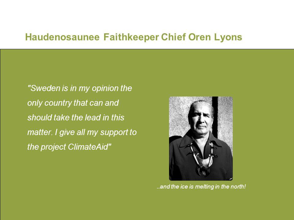 Haudenosaunee Faithkeeper Chief Oren Lyons