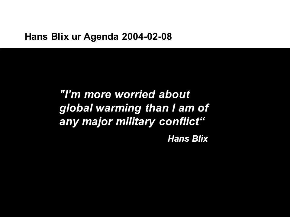 Hans Blix ur Agenda 2004-02-08