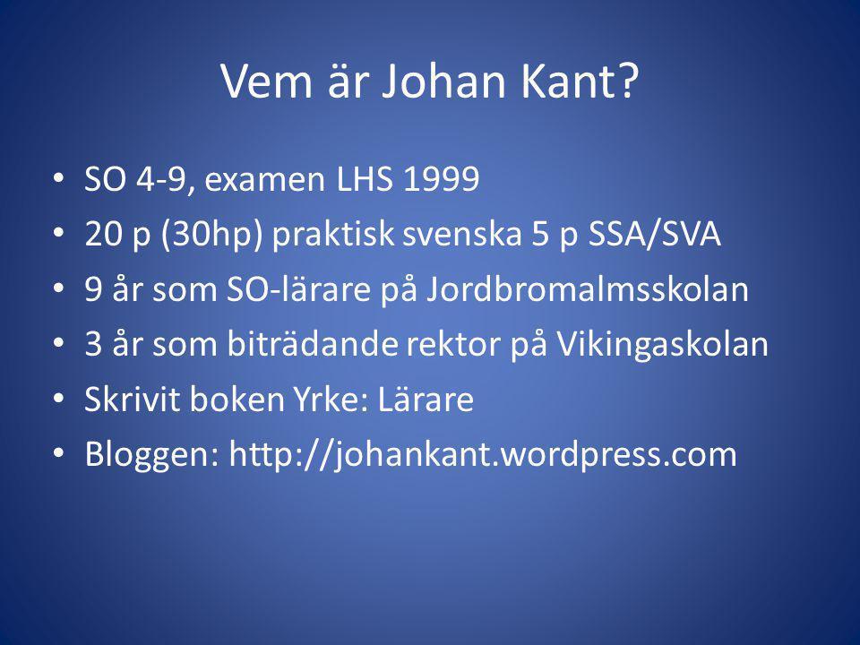 Vem är Johan Kant.