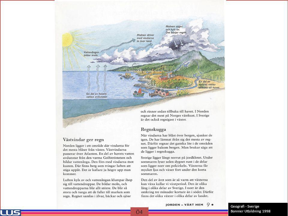 Geografi - Sverige Bonnier Utbildning 1998 Ö4
